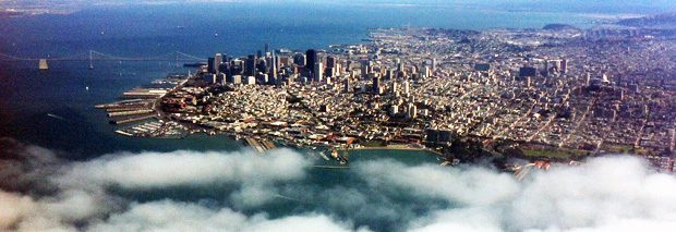 Taken during a recent flying lesson above San Francisco