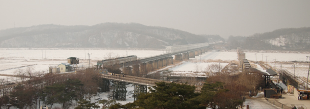 The empty train that goes to North Korea